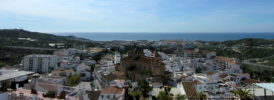 Views from Torrox Pueblo to sea